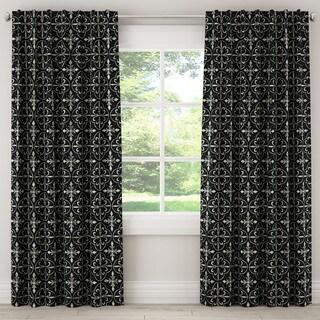Skyline Paris Tile Black Curtain Panel