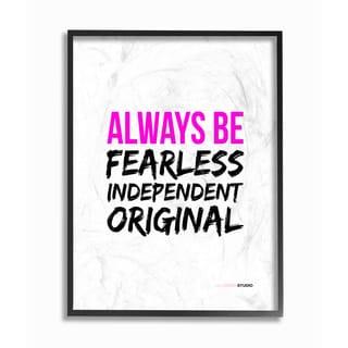 'Fearless Independent Original' Framed Giclee Texturized Art