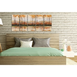 Stupell 'Autumn Treeline Reflections Landscape' Stretched Canvas Wall Art (Set of 5)