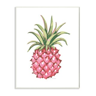 Stupell 'Graphic Pink Pineapple' Wall Plaque Art