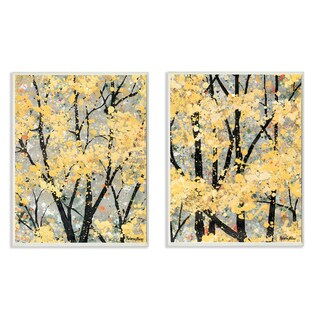 Stupell 'Early Spring Trees' 2-piece Wall Plaque Art Set