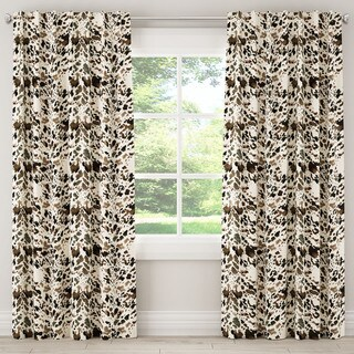 Skyline Furniture Watercolor Cow-print Curtain Panel