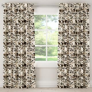 Skyline Furniture Watercolor Cow Print Curtain Panel