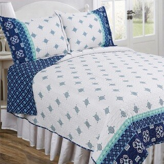 Slumber Shop Neena Blue Vintage Collection Quilt Set
