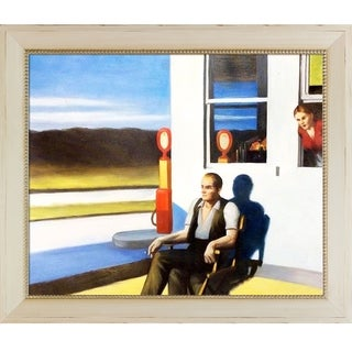 Edward Hopper 'Four Lane Road, 1956' Hand Painted Framed Oil Reproduction on Canvas
