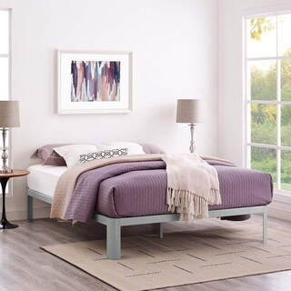 7bfcd6f28b8947 Shop Corinne Steel Full-Size Platform Bed - On Sale - Free Shipping ...