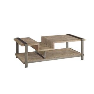 Industrial Rustic Lambert Weathered Rectangle Coffee Table