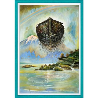 Sergey Roy 'Eternal Ark' Hand Painted Framed Oil Reproduction on Canvas