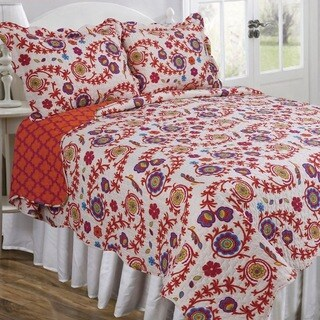 Slumber Shop Ariana Blossom Vintage Collection Quilt Set