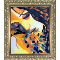Helena Wierzbicki 'Delight' Hand Painted Framed Oil Reproduction on Canvas