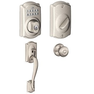 Schlage BE365CAM619 Keypad Deadbolt w/Entry Georgian Interior Knob, Satin Nickel