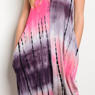 Shop the Trends Women's Tie Dye Print Spaghetti Strap Maxi Dress