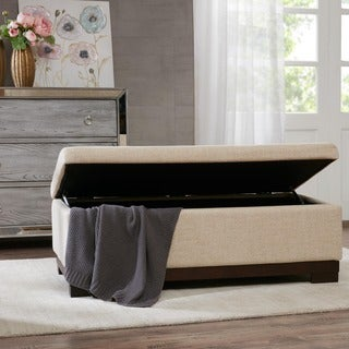 Madison Park Austin Cream Storage Ottoman