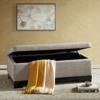 Madison Park Austin Grey Storage Ottoman