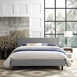 Anya Fabric Full-Size Platform Bed (Option: Light Gray)