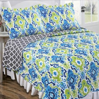 Slumber Shop Rustico Azul Vintage Collection Quilt Set