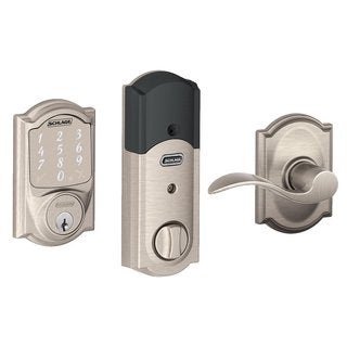 Schlage BE479CAM619 Sense Smart Deadbolt w/ Accent Passage Lever in Satin Nickel