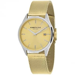Kenneth Cole Classic 10029401 Women's Gold tone Dial Watch|https://ak1.ostkcdn.com/images/products/14256062/P20844186.jpg?impolicy=medium