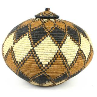Large Zulu Wedding Basket - One of a Kind - Illala Weavers (South Africa)