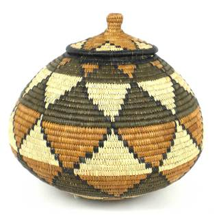 Large Zulu Wedding Basket - One of a Kind - Illala Weavers (South Africa)
