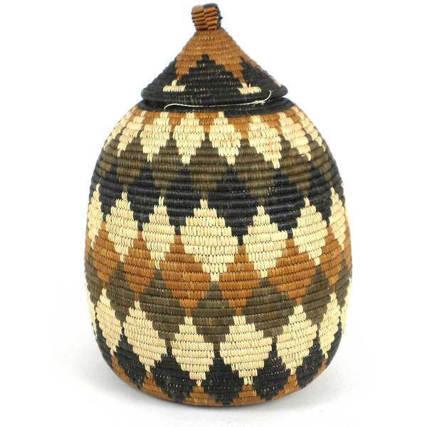 Handmade Large Zulu Wedding Basket - One of a Kind - Illala Weavers (South Africa)