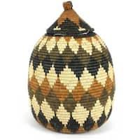 Handmade Large Zulu Wedding Basket - One of a Kind - Illala Weavers (South Africa)