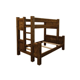 Barn Wood Style Timber Peg Bunk Bed - Amish made -Multiple Sizes