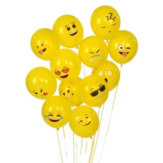 Etcbuys Emoji Universe Series One Latex Emoji Smiley Face Balloons