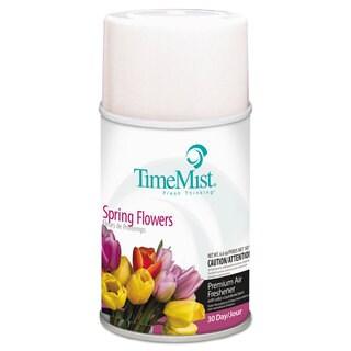 TimeMist Air Freshener Dispenser Refill Spring Flowers 6.6 ounce Aerosol, 12/Carton