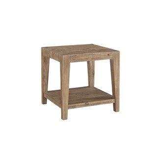 Contemporary Weathered Tyler Acacia  End Table