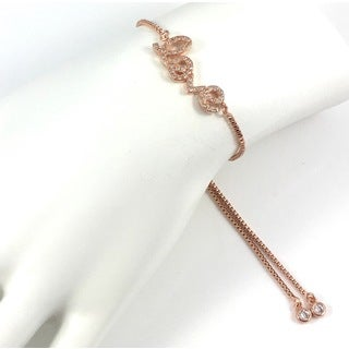 Rose Gold Pave Love Slider Bracelet