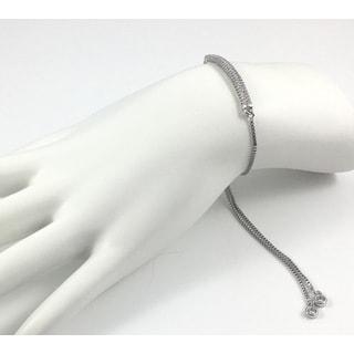 Silver Pave Bar Slider Bracelet
