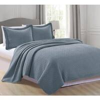 Home Fashion Designs Rianni Collection 3-Piece Stonewashed Quilt Set