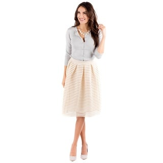 DownEast Basics Women's Ticker Tape Skirt