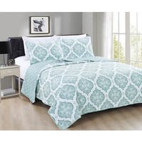 Home Fashion Designs Arabesque Collection 3-Piece Microfiber Quilt Set