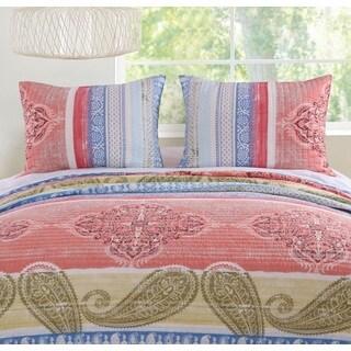 Barefoot Bungalow Hillsborough Coral Pillow Shams (Set of 2)