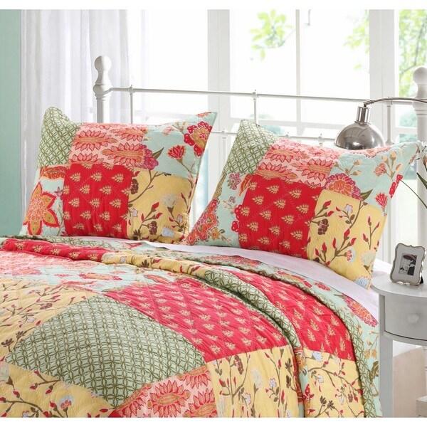 Barefoot Bungalow Eva Honeydew Quilted Pillow Shams (Set of 2)