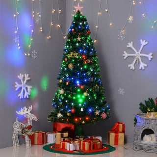 HomCom Multi-Color Light Up 6-Foot Artificial Christmas Tree