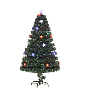 HomCom 6' Artificial Holiday Decoration Star Light Christmas Tree