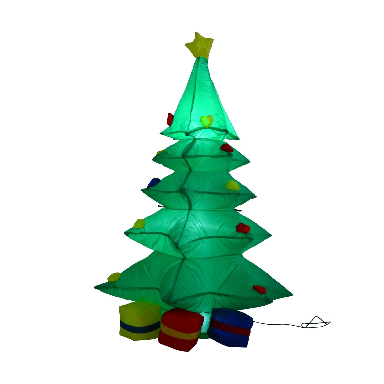 Inflatable Christmas Tree.Homcom 4 Ft Tall Outdoor Lighted Airblown Inflatable Christmas Lawn Decoration Holiday Tree W Presents