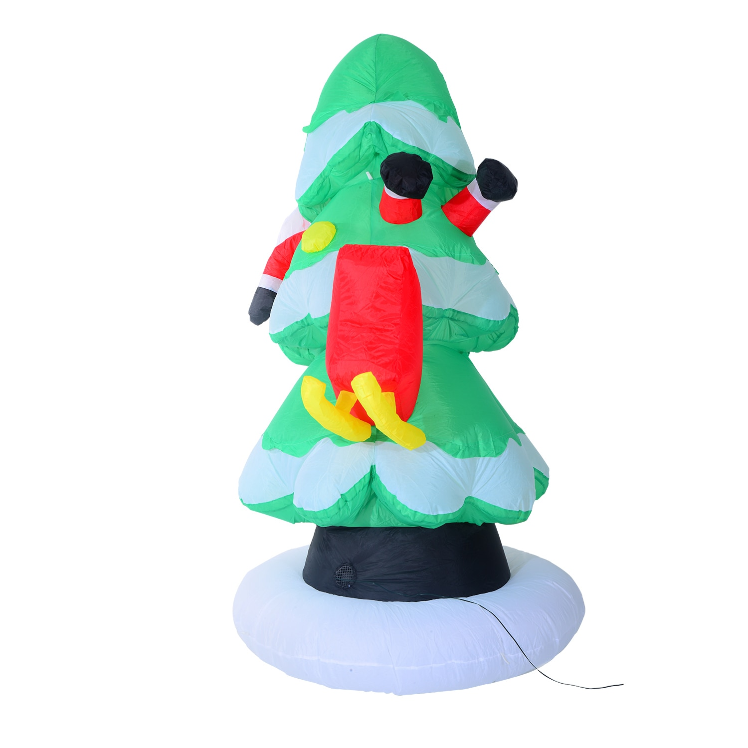 Christmas Tree Inflatable.Homcom 7 Ft Tall Outdoor Lighted Airblown Inflatable Christmas Lawn Decoration Santa Stuck In A Tree