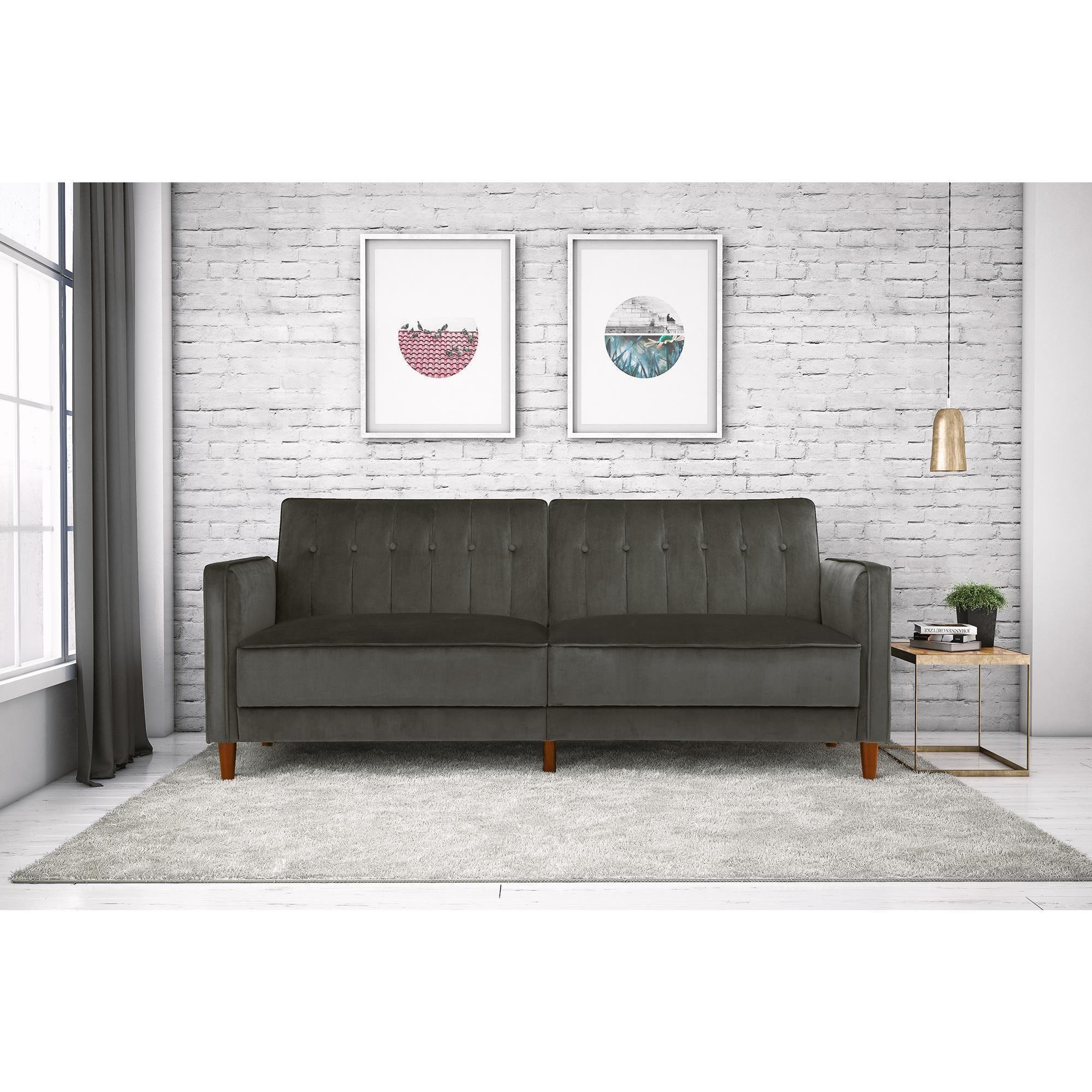 DHP Pin Tufted Velvet Convertible Futon Sofa - Free Shipping On ...