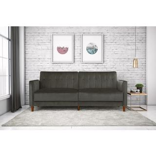 DHP Pin Tufted Transitional Velvet Futon
