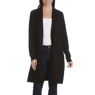 Verve Ami Women's Stitch-detail Fly-away Long Cardigan|https://ak1.ostkcdn.com/images/products/14256312/P20844427.jpg?impolicy=medium
