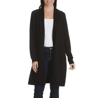 Verve Ami Women's Stitch-detail Fly-away Long Cardigan