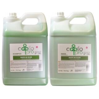 Capilo Pro Olive Oil (Aceite de Oliva) 2.8-gallon Shampoo and Rinse Duo