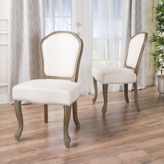 Godfrey Fabric Dining Chair (Set of 2) by Christopher Knight Home