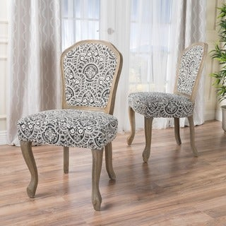 Godfrey Fabric Patterned Dining Chair (Set of 2) by Christopher Knight Home