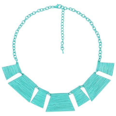 Liliana Bella Handmade Sea Blue Chunky Bib Necklace