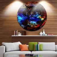 Designart 'Colorful Tiger Collage' Animal Digital Art Round Wall Art